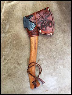 Gransfors Bruks Swedish Carving Axe # 475 w/ Custom Leather by John Black