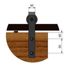 REA SET: Μηχανισμός βαρέως τύπου για συρόμενες  ξύλινες πόρτες τύπου αχυρώνα έως 100 kg. Η τιμή προσφοράς 79.58 από 1.06.20 για  πελάτες της VIALEXSHOP.GR Μεταφορικά έξοδα 6.00-8.00 ευρό Sliding Barn Door Hardware, Doors, Vintage, Houses, Vintage Comics, Gate