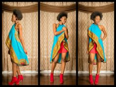 Wrap top. by ZNAKCanada on Etsy ~African fashion, Ankara, kitenge, African women dresses, African prints, African men's fashion, Nigerian style, Ghanaian fashion ~DKK