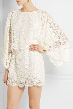 Dolce & Gabbana|Lace mini dress|NET-A-PORTER.COM