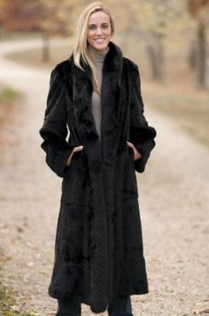 Women's Saddlebrook Reversible Leather and Sheared Mink Fur Coat $3,995.00