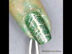awesome leaf nail art design  2016