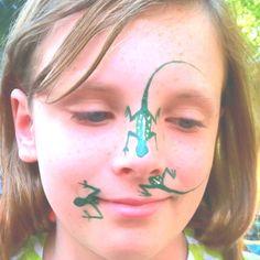 face painting lizard designs | Face paint!