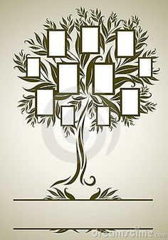 Vector Family Tree Design With Frames Royalty Free Stock Image - Image: 16263746