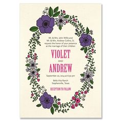 The Felicity Wedding Invitation features a sweet, playful hand-drawn floral border that can be customized to suit any season! Description from tgkdesigns.com. I searched for this on bing.com/images
