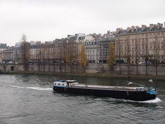 the seine...  often gris...  http://vickiarcher.com/2012/12/a-parisian-christmas-looking-back/#