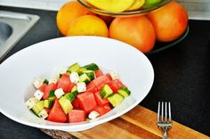 5 salater du må prøve: fetaost + agurk + vannmelon