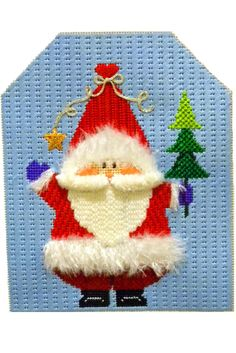 Santa with Tree needlepoint