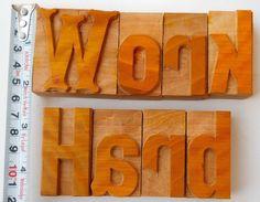 "Nicely Hand Craft Letterpress Work Hard Wood Type Printers Block typography 2"""