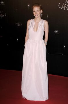 Cannes: Jessica Chastain in Louis Vuitton