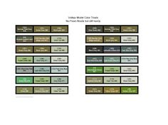Vallejo Model Color Paint charts and triad combinations Paint Color Chart, Paint Charts, Paint Colors, Vallejo Paint, Stone Deck, Mini Paintings, Figure Painting, Decoration, Tutorials