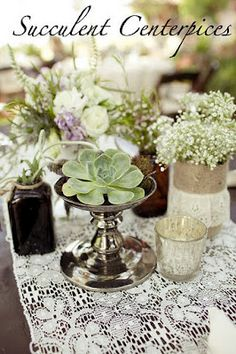 i love this for center pieces scattered along a farmhouse table....sigh
