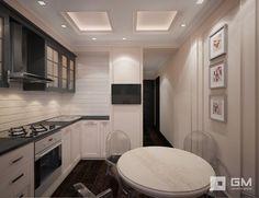 Дизайн-проект трехкомнатной квартиры на ул. Абрамцевская. Кухня