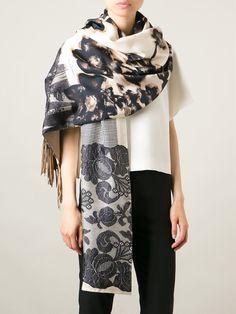PIERRE-LOUIS MASCIA fringed printed scarf