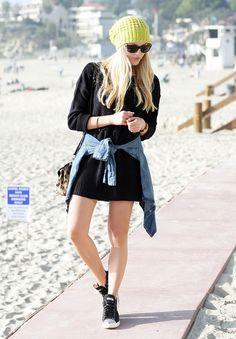 shea marie peaceloveshea style fashion blogger blog zara beanie forever 21 sweater dress sneakers miu miu alexander wang cheetah miubeach10