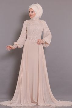 Hijab Evening Dress, Lace Evening Dresses, Muslim Girls, Muslim Women, Abaya Fashion, Modest Fashion, Estilo Abaya, Bridal Dresses, Girls Dresses