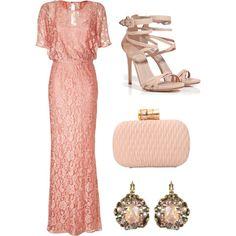 """Peach Dress"" by emileenicole on Polyvore"