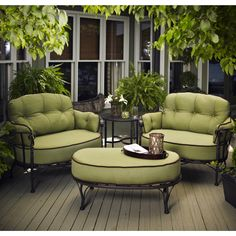 Love the style!  Would like a different color American-manufactured wrought iron patio furniture | Family Leisure