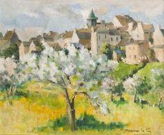 Vue de Saint Jean dans la Mayenne by Andree Bordeaux-Le Pecq