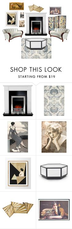 """Art Deco"" by legacy-housing on Polyvore featuring interior, interiors, interior design, home, home decor, interior decorating, nuLOOM, Mitchell Gold + Bob Williams and Global Views"