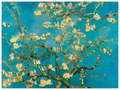 'Mandorli in Fiore a San Remy' by Van Gogh Painting Print