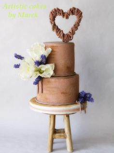 Country wedding by Marek - http://cakesdecor.com/cakes/307674-country-wedding