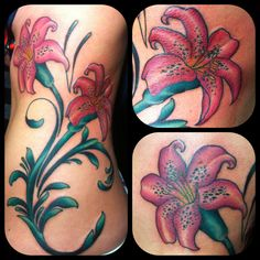 Rib cage flower tattoo made by Herr Weiß...