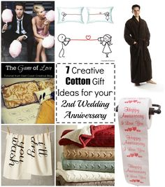 2 Year Anniversary Gift Ideas | Anniversaries, Spin and Cotton