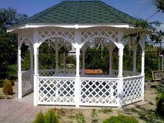 Gazebo Plans, Backyard Gazebo, Garden Gazebo, Garage, Garden Deco, Dome House, Front Porch, Home And Garden, Outdoor Structures