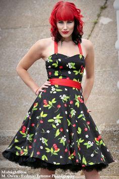 Cherry Blossom Black 1950's Rockabilly Dress  I have this one:)