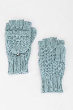 convertible glove in blue