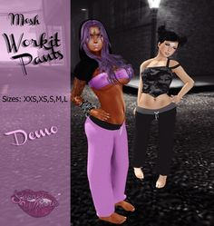 Second Life Marketplace - !SW! - MESH - Wearable Demo - Workit Pants // GRATUIT