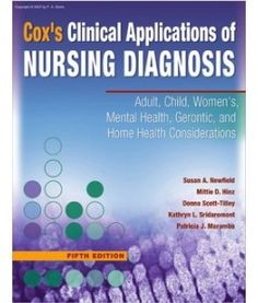 Clinical Application of Nursing Diagnoses (GREAT resource for writing Dx with interventions and rationals)