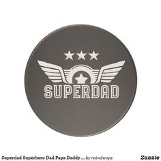 Shop Superdad Superhero Dad Papa Daddy Father's Day Coaster created by raindwops. Personalized Pocket Watch, Personalized Gifts, Sandstone Coasters, Fathers Day Presents, Great Father's Day Gifts, Super Dad, Dad Day, Dad Jokes, Man In Love
