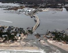 The view of storm damage over the Atlantic Coast in Seaside Heights, N.J., Wednesday, Oct. 31, 2012, from a helicopter.