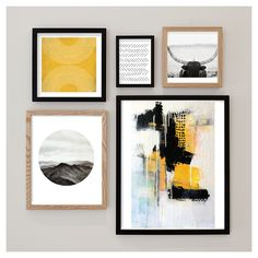 Create a statement wall with a collage of #MintedArt pieces. Minted.com