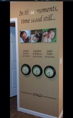 Baby Pictures Of Your Kids With The Times On A Clock They Were Born, So Cute!