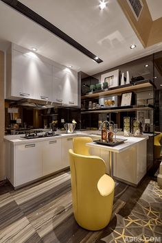 Kitchen Decorating and Design Ideas Small Rooms, Small Apartments, Luxury Kitchens, Home Kitchens, Kitchen Dining, Kitchen Decor, Model Homes, Apartment Design, Beautiful Kitchens