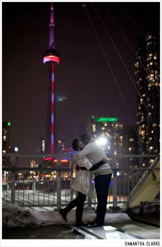 Toronto Engagement Session at Night