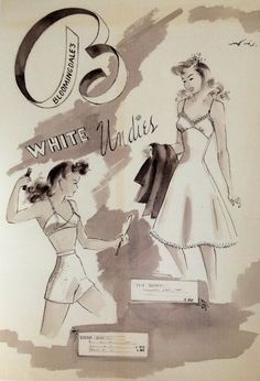 Vintage Fashion Illustration 1940