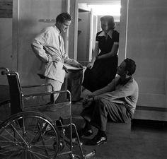"Marlon Brando in training for his role in ""The Men"", Van Nuys, Calif., 1949 © Ed Clark"