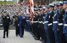 Prince Charles today inspected the guard in the Grand Parade, a historic military parade s...