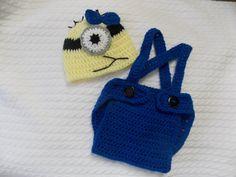 Banana FREE Minion blue crochet by StephanDesign on Etsy