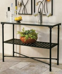 Get ready to entertain with our sophisticated outdoor Reece console- it makes the perfect outdoor buffet table.