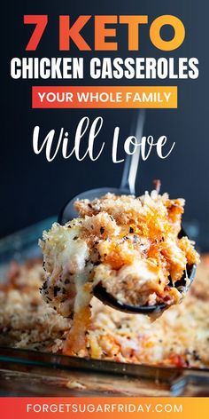 KETO Chicken Casseroles for the whole family! KETO Chicken Casseroles for the whole family!,Keto Casseroles If your family loves casseroles, they're going to love these easy keto chicken casserole recipes. They're creamy, cheesy, and. Keto Chicken Casserole, Casserole Recipes, Ketogenic Recipes, Low Carb Recipes, Keto Foods, Keto Snacks, Ketogenic Diet, Easy Recipes, Cooking Recipes