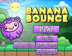Play #BananaBounce. This hungry monkey is bouncing towards a boatload of bananas.