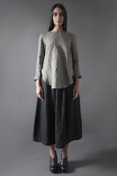 Linen Minimal Blouse   Nuances Collection by Kesa   www.atelierkesa.com