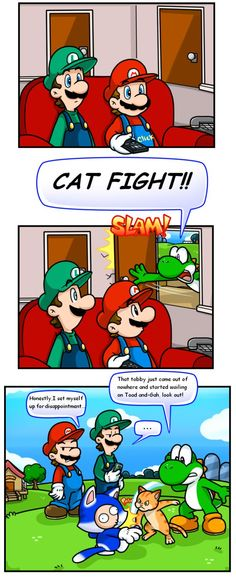 Random Short: Can I haz fight by Nintendrawer on DeviantArt
