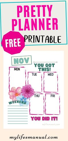Looking for a pretty and colorful printable to help you organize and boost your day? This Free Weekly Planner Printable is perfect for you! #planner #freeplanner #printables #freeprintables Weekly Planner Printable, Free Planner, Goals Planner, Planner Pages, Personal Planners, Time Management Tips, Planner Organization, Free Printables, Organize