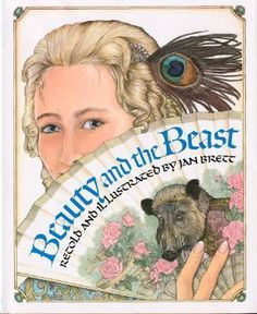 Beauty and the Beast  (Book) : Brett, Jan : This retelling of the classic fairy tale will appeal to children because of its mystery, suspense, and romance, and to adults because of its exploration of the duality in human nature.